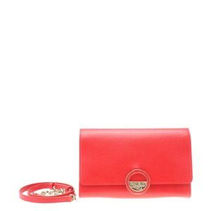Versace Saffiano Red Leather Crossbody Bag 183424